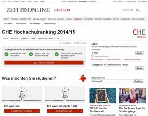 Zeit CHE Hochschulranking 2014